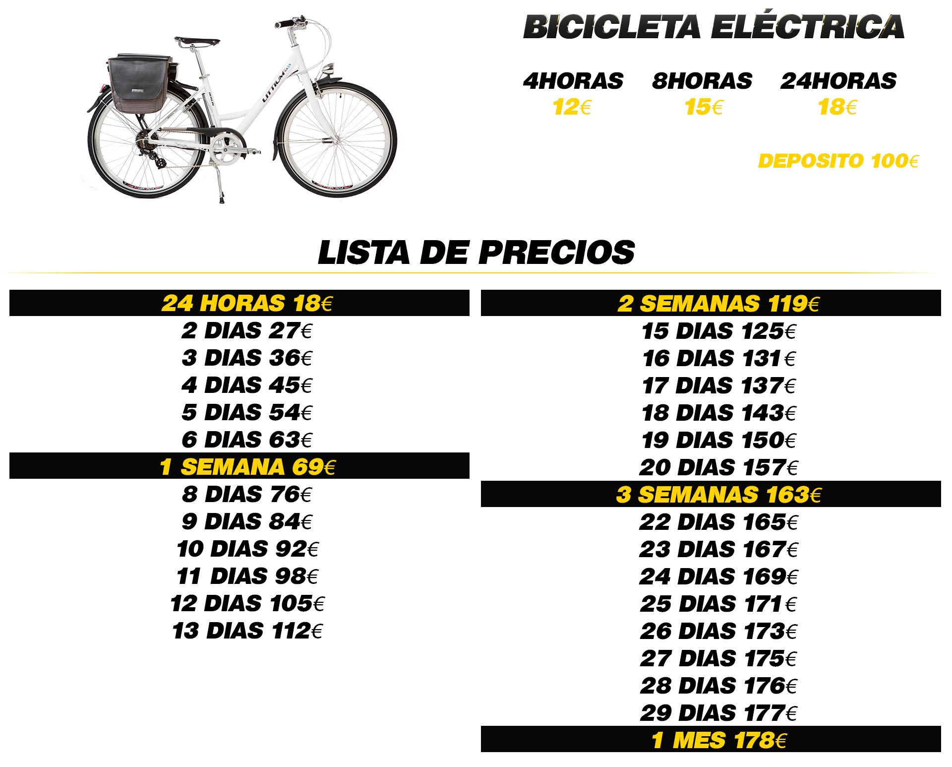 Alquiler bicicleta electrica money rent albir